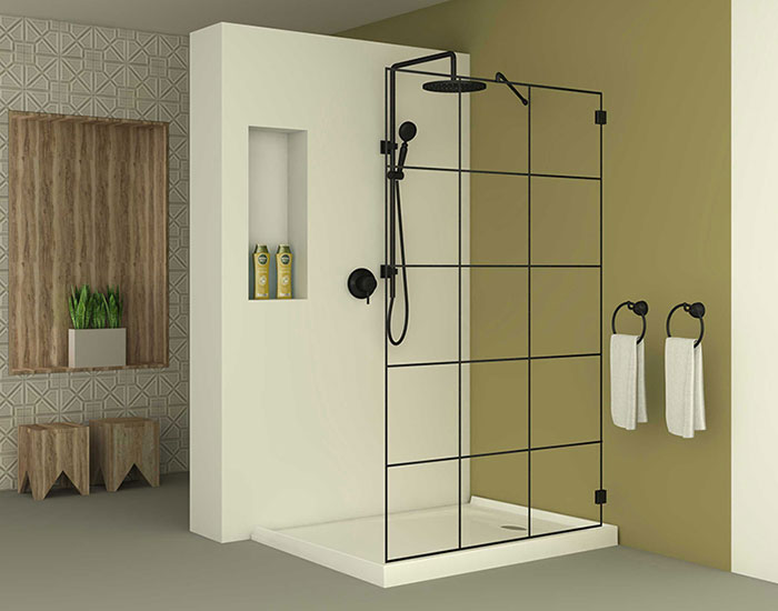 מקלחון דגם ברצלונה אופן ספייס צמוד לקיר