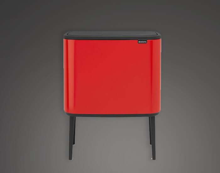 פח מעוצב למטבח 36 ליטר אדום brabntia