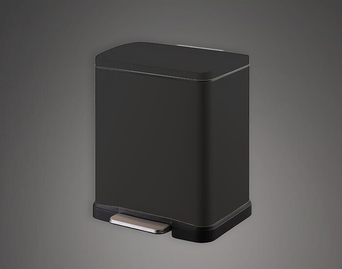 פח מעוצב למטבח 20 ליטר שחור מלבני