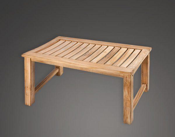 ספסל teak לאמבטיה עץ גדול