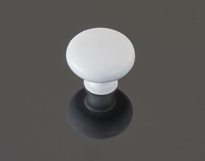 ידית כפתור בגימור לבן דגם 3129