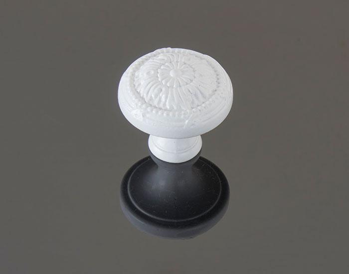 ידית כפתור בגימור לבן דגם 783127