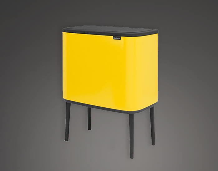 פח מעוצב למטבח 36 ליטר צהוב brabntia
