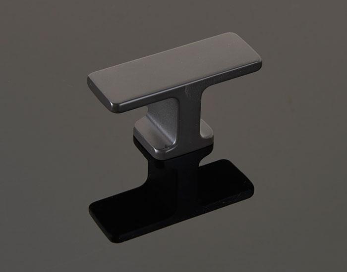 ידית כפתור בגימור שחור דגם W728